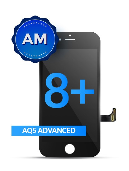 LCD ASSEMBLY FOR IPHONE 8 PLUS (AFTERMARKET QUALITY, AQ5) (BLACK)